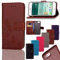 For Apple iPhone Phones Soft Leather Magnetic Wallet Card Holder Sim Case Cover