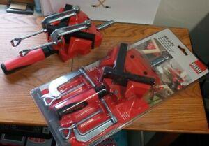 2 Bessey 2 in. Capacity 90-Degree Angle Clamp with 1-1/8 in. Throat Depth