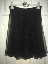 French Connection Black And Bronze Boho Skirt Size 6/8 perfect for Summer