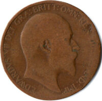 1910 HALF PENNY OF EDWARD VII. / COLLECTIBLE COIN    #WT2589