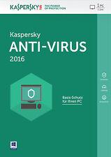 Kaspersky Antivirus 2017 1 Jahr 3 PC