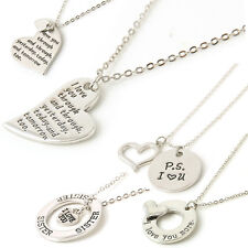 Charming Love Gift Statement Pendant Family Lover Bid Chain Necklace Jewelry