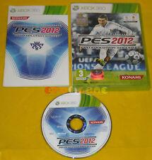 PRO EVOLUTION SOCCER 2012 XBOX 360 Versione Ufficiale Italiana PES »»»» COMPLETO