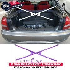 X-Bar Rear Strut Tower Crossbar For Honda Civic Hatchback EK EJ 1996-2000 New