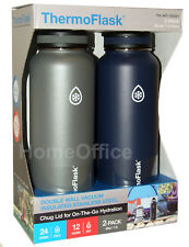 ThermoFlask Double Wall Hot / Cold Vacuum Insulated Stainless Steel 1.1L Flasks
