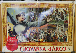soggettone film GIOVANNA D'ARCO Ingrid Bergman 1956 B