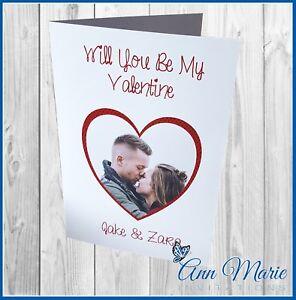 PERSONALISED PHOTO VALENTINES DAY CARD VALENTINE'S GIRLFRIEND BOYFRIEND CARD