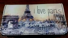 I LOVE PARIS ROLLING TOBACCO WALLET POUCH CASE PURSE EIFFEL TOWER EUROPE DISNEY
