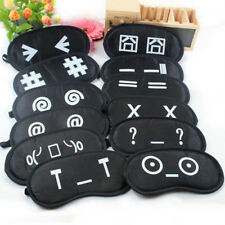 1Pcs Cute Expressions Soft Sponge Travel Sleeping Mask Cover Maschera per gli CR