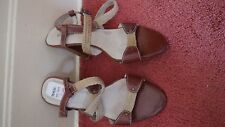 Brown Leather Canvas  SandalsSize 6/39 by Seychelles