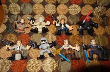 EIGHT Star Wars Galactic Heroes Figures Lot Playskool / HASBRO 2007 LEIA, HAN...