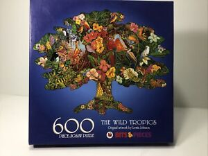 Bits & Pieces Tree-Shaped Puzzle THE WILD TROPICS 1999 By Lewis Johnson. 600 Pcs