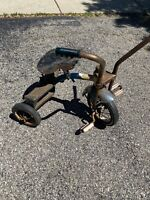 Vintage AMF Jr. Blue  Child's Tricycle Rust Very Rare Handle Bars
