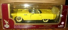 1955 Ford THUNDERBIRD CONVERTIBLE Car Display Stand 1:18 Yat Ming Toy Yellow