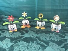 Solar Powered Dancing Toy Bobble Head Flower Disney Mickey Minnie Donald Daisy 4