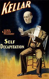 Kellar the Magician, Old Vintage Ad, Magic, Antique, Circus, HD Print or Canvas