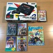 Mega Drive 2 main body Langrisser and other sets puyopuyo Game Guidebook etc