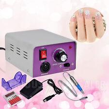 Professional Electric Acrylic Nail File Drill Pedicure Sand Band Machine Kit Set