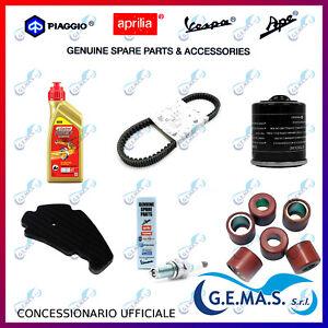 Kit tagliando Piaggio Beverly 300 cinghia candela olio filtro olio aria rulli