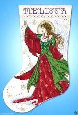 "Design Works Counted Cross Stitch kit 17"" Stocking ~ ANGEL OF JOY #5990 Sale"