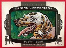 2018 Ud Goodwin Champions Plott Hound Canine Companions Patch Card #Cc153