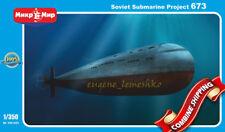 Mikro-Mir 350-023 Soviet Submarine Project 673, Plastic Model Kit 1/350