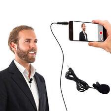 3.5mm Clip-on Lapel External Lavalier Microphone for Cell Phone PC Laptop Black