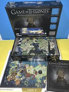 Game of Thrones 4D Puzzle of Westeros & Essos 4D Cityscape 891 Pieces