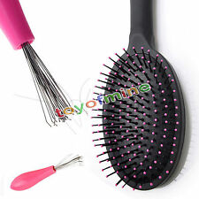 Hot Useful Hair Brush Comb Cleaner Cleaning Remover Handle Embedded Salon