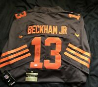 Odell Beckham Jr. Signed Cleveland Browns Color Rush Nike Official Jersey