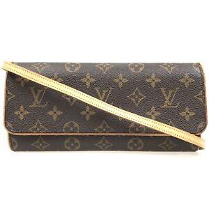100% authentic Louis Vuitton Monogram Pochette Twin GM M51852 {05-0217}
