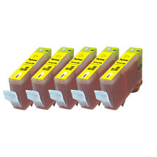 5 YELLOW Premium Ink + Chip for Canon Series CLI-221 iP4600 iP4700 MP560 MP620