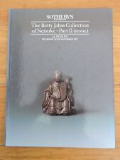 THE BETTY JAHSS COLLECTION OF NETSUKE PART 2 by SOUTHEBY'S - H/B - 1991