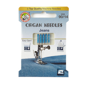 Jeans Domestic Sewing Machine Needles by Organ ECO - Sizes 90/100