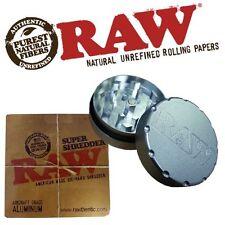 Raw Super Shredder Grinder Rolling Papers Herb Weeds Tobacco Herbs 2 Part Metal