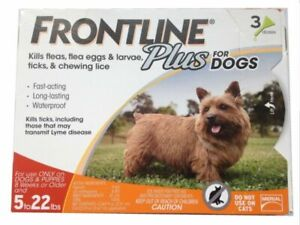 Frontline Plus For Dogs 5-22 lbs Flea &Tick Treatment 3 Doses