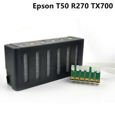 Refill ink cartridge tank CISS compatible for epson T50 T59 R270 TX700 TX710W