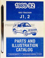1992 Geo Tracker Master Parts Book Catalog Illustrated 92 Chevrolet Original OEM