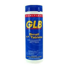 GLB Small 1 inch Chlorine Sanitizing Tablets 2lb 71250A for Swimming Pools & Spa