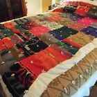 Vintage Hand-Made Pendleton Blanket. Multi-color. Queen Size. Beautiful!