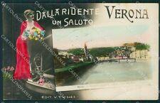 Verona Città Saluti da Foto cartolina QK7394