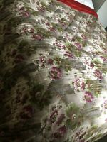 Antique Quilt Reversible 1920s 1930s Double Bedspread Throw Silk Blend Bed Cover