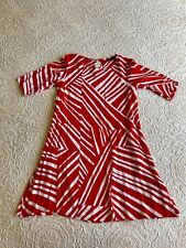 Mr Zimi Size 8 Red And White print knee length Shift Dress. Excellent Condition