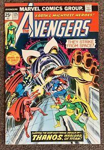 Avengers #125 Stan Lee Roy Thomas Thanos 1974 Marvel Comics VF+ Includes MVS