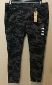 (NWT) Levi's Gray/Black Camo Perfectly Slimming Pull-On Leggings Plus Size 24W