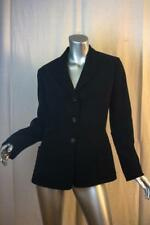 Womans SALVATORE FERRAGAMO Italy Basic Black Jacket Size US 8
