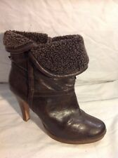 Marks&Spencer Brown Ankle Leather Boots Size 5