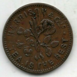 1854 Irish Unofficial Farthing for Harrison & Co., Kingstown, County Dublin