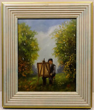 """ The Painter in the Green "" Oil / LWD monogr.sign.k.m. (K.manetstötter)"