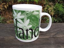 2000 Starbucks Collector Series City Mug Cup 16 oz SWITZERLAND Green Floral